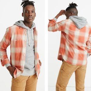 Madewell Brushed Cotton Perfect Shirt Kilmer Plaid